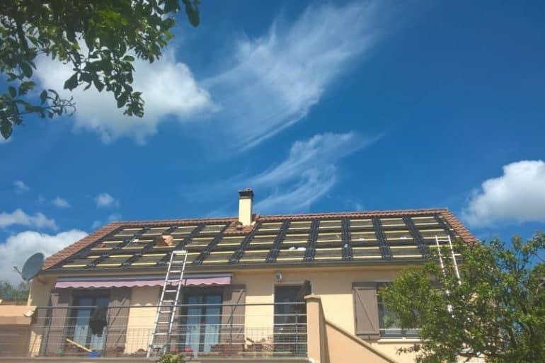Installation photovoltaïque sur une maison